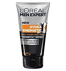 Loreal Men Experts Hydra Energetic Black Charcoal Wash Magnetic Effect 150 ml With Free Ayur Sunscreen 50 ml