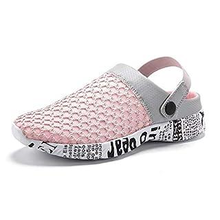 95ecbecbc05c4 Gaatpot Damen Clogs Hausschuhe Freizeit Slides Mesh Sandalen Sommer Outdoor  Flach Pantoletten Sports Strand Schuhe Pink