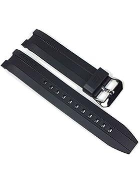 Casio Edifice Ersatzband Uhrenarmband Resin Band schwarz 22mm für EMA-100
