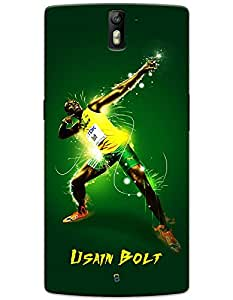 OnePlus One Cases & Covers - Usain Bolt Lightning Bolt Case by myPhoneMate - Designer Printed Hard Matte Case - Protects from Scratch and Bumps & Drops.
