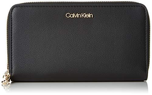 Calvin Klein Damen Ck Must Large Double Zip Around Clutch, Schwarz (Black), 2.5x11x18 cm