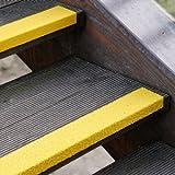 Antirutsch Treppenkantenprofil gelb, Körnung Extra Stark, GFK, 70 x 1000 x 30 mm