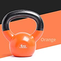 Kettlebell Weights Set - 12 Sizes Available, 9-71 Pounds - Coated for Floor And Equipment Protection, Noise Reduction - Free Weights for Ballistic, Core, Weight Training,6KG/13LB