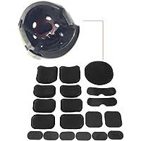 Tbest Tactical Helmet Pads Foam Pad, 19pcs/set Durable EVA Motorcycle Cs Casco EVA MatsSustitución de accesorios