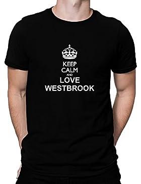 Teeburon Keep calm and love Westbrook Camiseta
