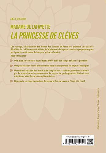 """Français, Première. L'œuvre et son parcours : Madame de Lafayette, La Princesse de Clèves, parcours """"Individu, morale et société"""""""