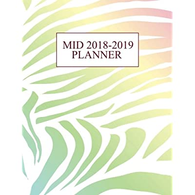Mid 2018-2019 Planner: 150-Page Monthly Weekly Daily Holographic Planner | 8.5 X 11 Inch Organizer With Notes + Yearly Overview | Perfect Bound Matte Paperback