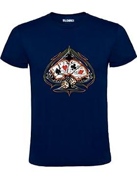 Wolkenbruch® Herren T-Shirt Four Poker, Dices Rockabilly, vers. Farben Gr.S bis XXXXXL