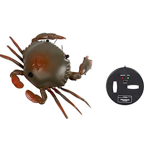 Wokee Infrarot Fernbedienung Realistische Fake Krabbe,Küstenambiente Mini Simulation Creepy Krabbe Streich Scary Trick Spielzeug für Kinder (Grün)