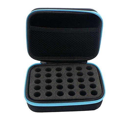30 Flasche ätherische Öle Aufbewahrungskoffer tragbare ätherisches Öl Travel Box Halter Organizer (blau)