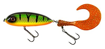 FLADEN Fishing - KROOK-TAIL Twin Detachable Tail Pike Fishing Lures (2 Lures in 1- Paddle and Single Tail Combo) 11.5cm 101g - Double Trebles - Quality Imitation Predator Bait Lure by FLADEN