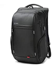 DTBG Nylon Laptop Backpack Water Resistant with USB Charging Port,17.3-Inch
