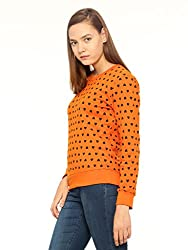 Vvoguish Orange Heart Printed Sweatshirt-VVSWTSHRT943ORG-M