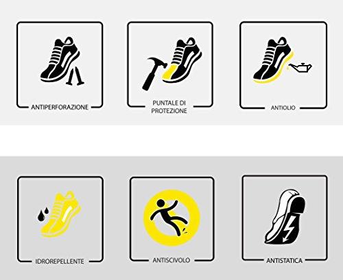 U-Power - Zapatillas de seguridad laboral para hombre Aerator SK Grip, S1P SRC Beige Size: 41
