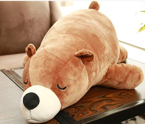 XXCKA Polar Bear Plush Toy Hug Bear Doll Cute Sleeping Pillow Doll Gift Brown 60Cm