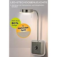 Trango TG2605 LED Steckerleuchte Wandleuchte Leselampe Küchenlampe Nachtlicht Lampe 5.5 Watt 3000K warm-weiß direkt 230V