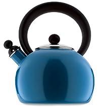 Copco 2-Quart Bella Enamel-on-Steel tea kettle, blue