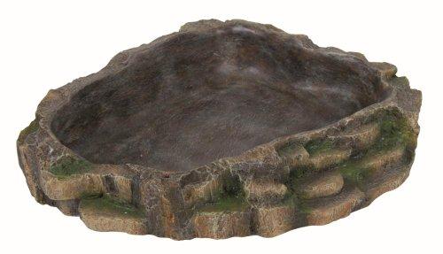 Trixie Reptile Regenwald Dekoration Wasser und Nahrung, Schüssel, 24x 5,5x 20cm