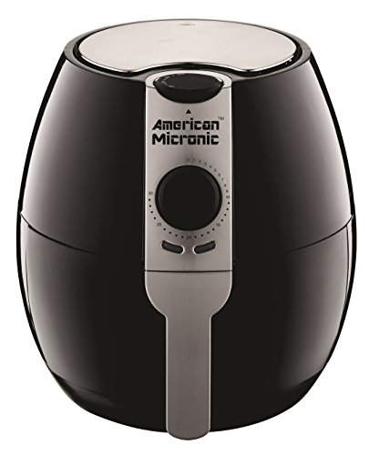 AMERICAN MICRONIC – 3.5 Liters Imported Air Fryer, 230V AC, 1500W, 30 Minutes timer with Variable temperature control, TurboTunnel Freshair technology- AMI-AF1-35LDx
