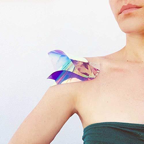 Wonder Woman Epaulette - Für alltägliche Heldinnen/Helden - Holographic Shoulder Jewelry - Schulterpolster - Hochzeitsbrautjungfern - Geschenke für - Hologramm Kostüm