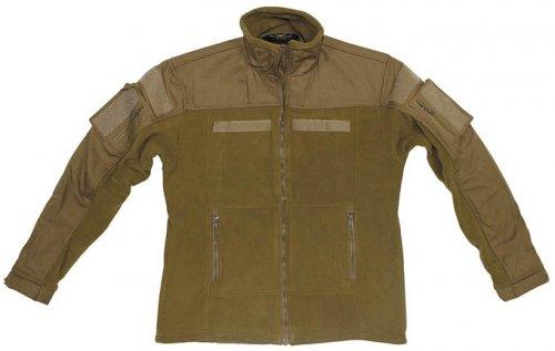 Fleece-Jacke, Combat, coyote tan Größe: XXXL