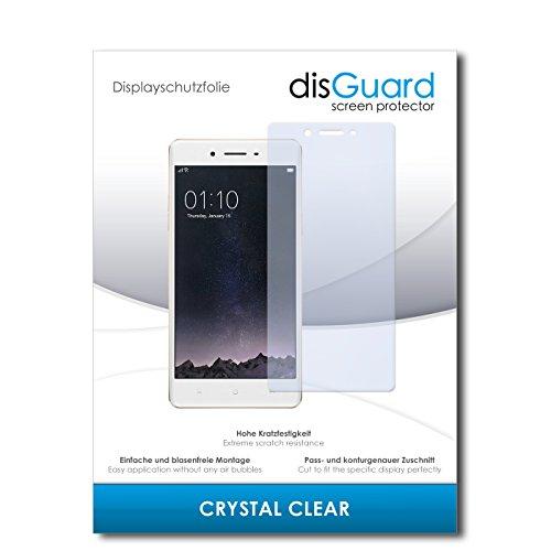 disGuard® Bildschirmschutzfolie [Crystal Clear] kompatibel mit Oppo F1 [2 Stück] Kristallklar, Transparent, Unsichtbar, Extrem Kratzfest, Anti-Fingerabdruck - Panzerglas Folie, Schutzfolie