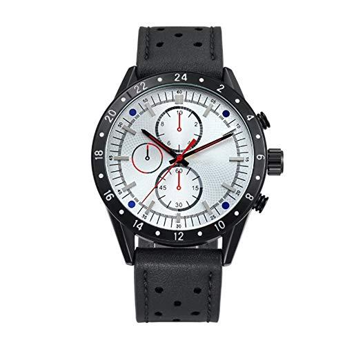 Liandd Herrenuhren Quarz Analog Sport-Armbanduhr für Männer Casual Clock Male Big Case,White White Crystal Case
