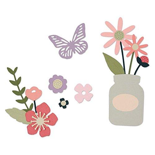 Sizzix Thinlits Stanzschablonen-Gartenblumen von My Life Handmade, Stahl, Mehrfarbig, 26 x 13 x 0.2 cm