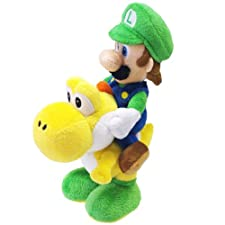 Nintendo 22cm Sanei Super Mario Bros Plush Luigi and Yoshi Set