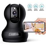 Überwachungskamera Innen unterstützt Alexa, Lefun 1080P HD WiFi Sicherheitskamera mit Bewegungserkennung/Spracherkennung/Zwei-Wege-Audio Cloud-Kamera Nachtsicht für Baby/Haustier/Zuhause Monitor