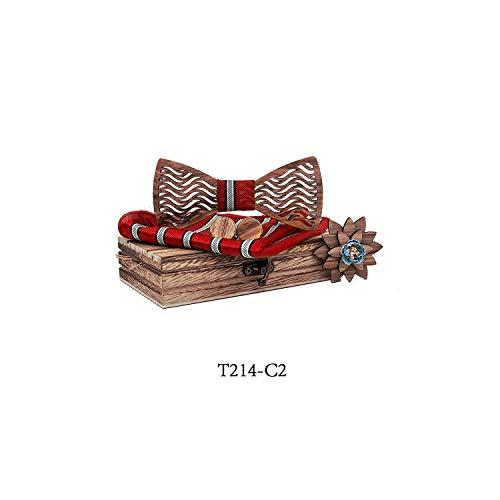 Mens Wood Bow Tie Set Men Handkerchief Wooden Bowtie Cufflinks Handkerchief Necktie Silk Ties Wedding,T214-C2 Sky Blue Mens Tie