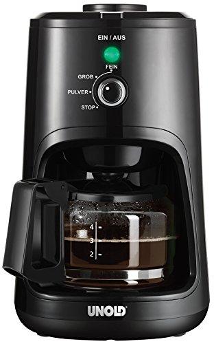 Unold 28725 Kaffeeautomat-Mühle Kompakt, Kunststoff, Schwarz