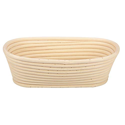 Oval Brotfermentation Rattankorb Pastry-Speicher-Korb Baguette Dough Proofing Proving Baskets Lebensmittel Obst Organizer (weiß) (Oval-speicher-körbe)