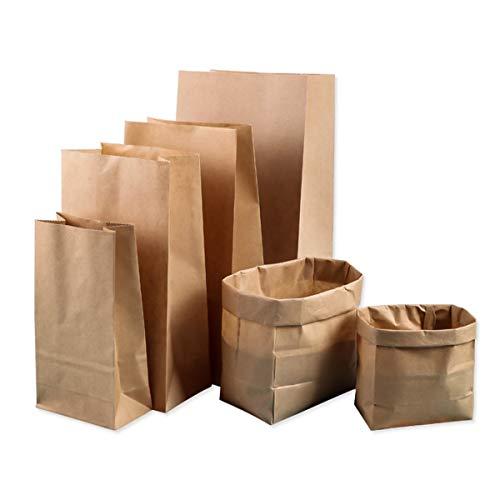 ke Kraftpapier Beutel Stand Up Party Favors Snack Lunchpaket Trockenfutter Snack Aufbewahrungstasche Lagerung, Cookie, Snack (Size : 15.5 * 10 * 30cm) ()