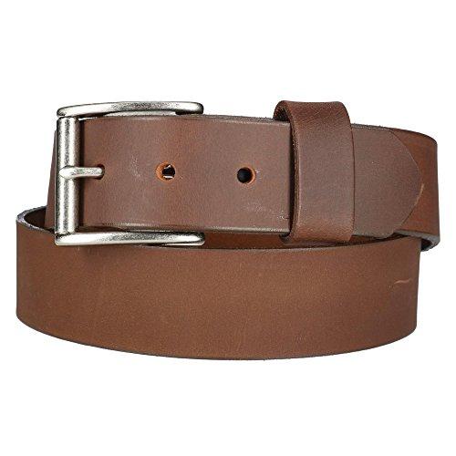 Boston Leather Chieftain Ledergürtel mit abnehmbarer Rollschnalle für Herren 32 Braun - Boston Echte Gürtel