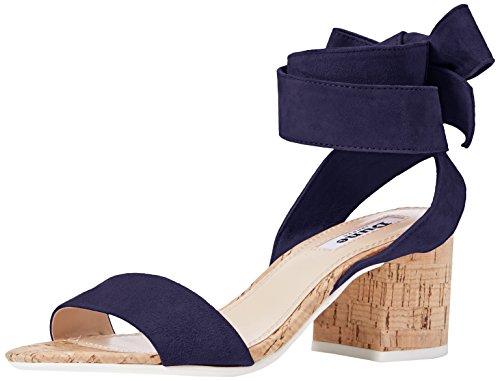 Dune Damen Jonee Ankle Strap Heels, Blau (Navy), 39 EU (Leder-ankle-strap Schuhe)