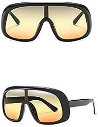 127bdd6c37 MMCP Gafas de Sol de Montura Grande, Colores de Caramelo Gafas de una Sola  Pieza