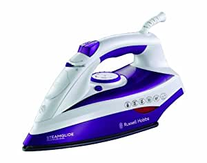 Russell Hobbs Steamglide Professional Iron 19221, 2400 W - White and Purple