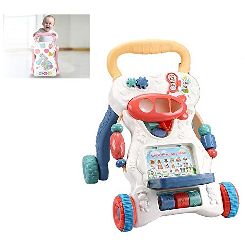 WMYJXD Andador para Bebés, Andador Multifunción, Carrito De Rompecabezas para Bebés, 2 En 1, Andador De Música ABS para Sentarse, Apto para Bebés De 6 A 18 Meses,A