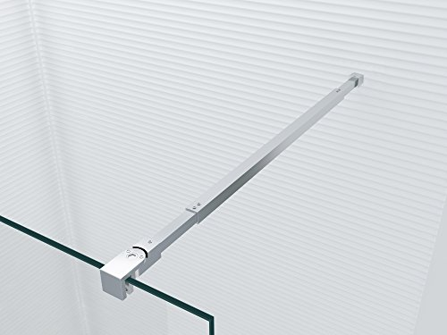Preisvergleich Produktbild Stabilisator Stange - FlexFix - 850-1500mm - für Duchwand & Duschkabine - Haltestange - Halterung - Stabilisationsstange - Stabilisierungsstange