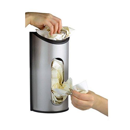Lebensmittelgeschäft Beutel Halter & Spender Müllbeutel Organisator Abfall Taschen Recycling Container Edelstahl Anti-fingerprint für Küche