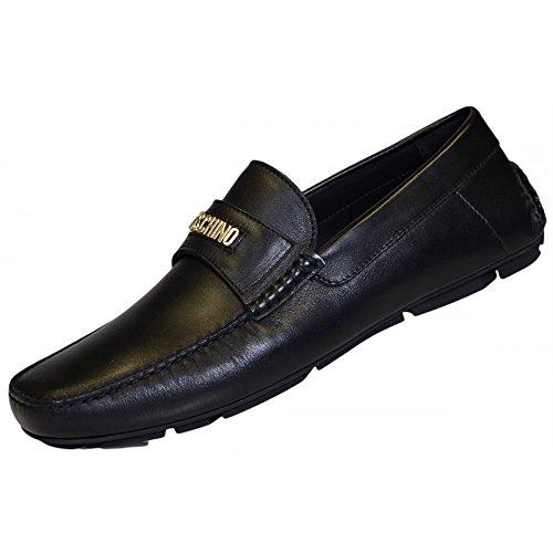 Moschino Logo Driving Herren Schuhe Schwarz Schwarz