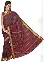 Bollywood Sari Kleid Regenbogen Rot