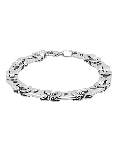Voylla Designer Silver Plated Linked Bracelet For Men  available at amazon for Rs.499