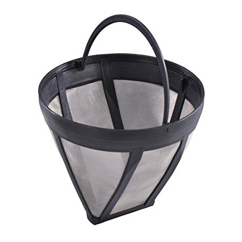 Xavax Dauer-Kaffeefilter Größe 4 (Dauerfilter für Filterkaffeemaschinen und Tee, Ø 12 cm, Höhe 10 cm, Edelstahlgewebe, wiederverwendbar, spülmaschinengeeignet) Permanent-Filter