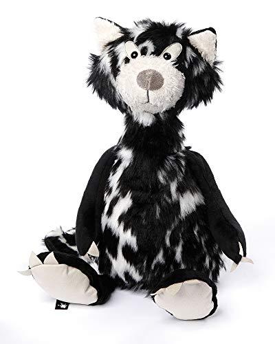 sigikid BEASTS, Kuscheltier für Erwachsene und Kinder, Katze Cat Macchiato, Schwarz/Weiß, 38057