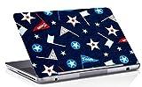 RADANYA Pelle del Computer Portatile Digitalmente Bandiera Blu Stampato Copertina della Pelle del Computer Portatile Rosa Vinile Decalcomania Adatta 14,1 Pollici A 15,6 Pollici