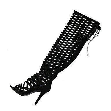 LvYuan Da donna-Sandali-Formale Casual Serata e festa-Altro-A stiletto-Tessuto-Nero Rosso Cammello Marrone scuro Black