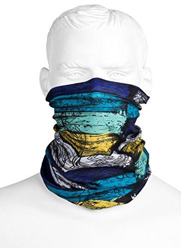 Preisvergleich Produktbild Premium Multifunktionstuch Blau Gestreift | Sturmmaske | Paintballmaske | Bandana | Schlauchtuch | Halstuch | Maske für Motorrad Fahrrad Ski Paintball