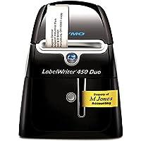 DYMO LabelWriter 450 Duo - Impresora de etiquetas (Térmica directa, 600 x 300 DPI, 71 Ipm, 56 mm, D1, Negro, Plata)